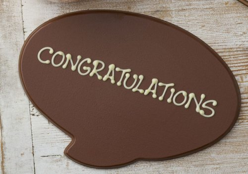 Goodiewebcouk Win A Personalised Milk Chocolate Plaque